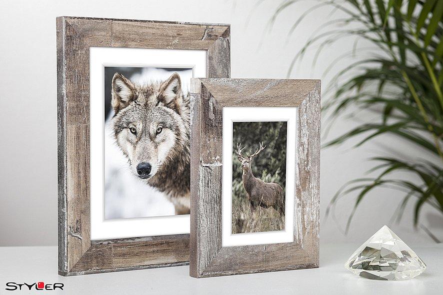 Designer Bilderrahmen Fotorahmen mit Echtglas 10x15 15x21 21x30 ...