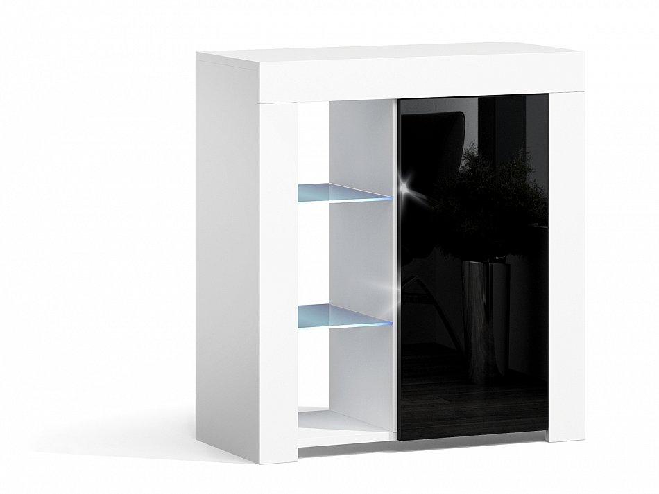 kommode schrank sideboard hochglanz anrichte mit led beleuchtung beistellkommode ebay. Black Bedroom Furniture Sets. Home Design Ideas