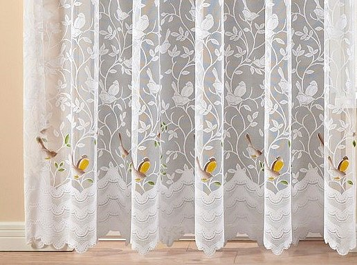 Gardinen Stores Vorhang Blumenfenster Jacquardstore Weiß H
