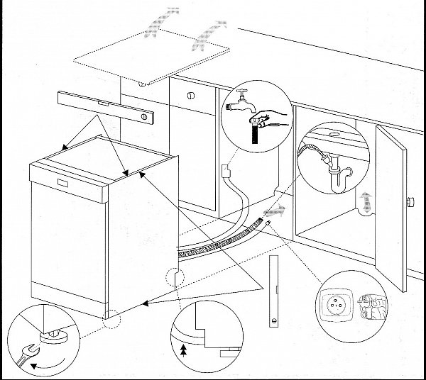 sp lmaschine 60cm amica freistehend geschirrsp ler standgeschirrsp ler neu a ebay. Black Bedroom Furniture Sets. Home Design Ideas