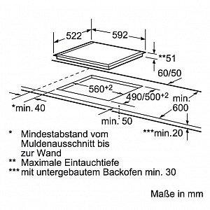 kochfeld induktion bosch pue611 induktionskochplatte 60cm autark glaskeramik neu ebay. Black Bedroom Furniture Sets. Home Design Ideas