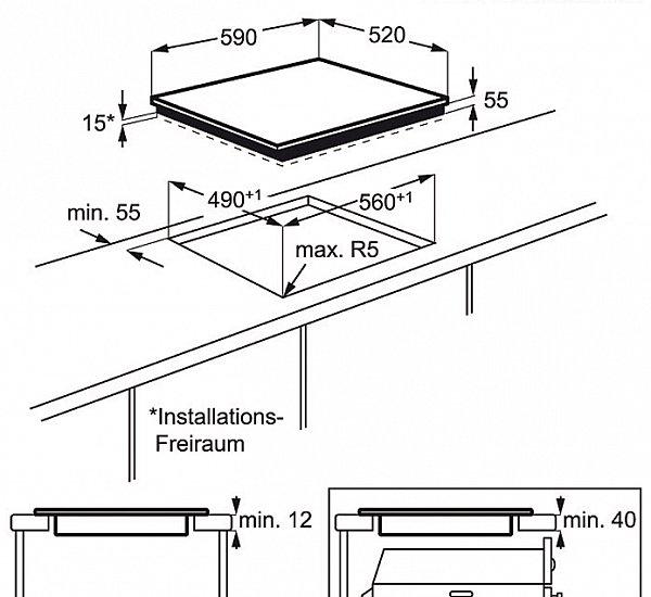 aeg herdset induktion autark backofen induktion glaskeramik kochfeld br terzone ebay. Black Bedroom Furniture Sets. Home Design Ideas