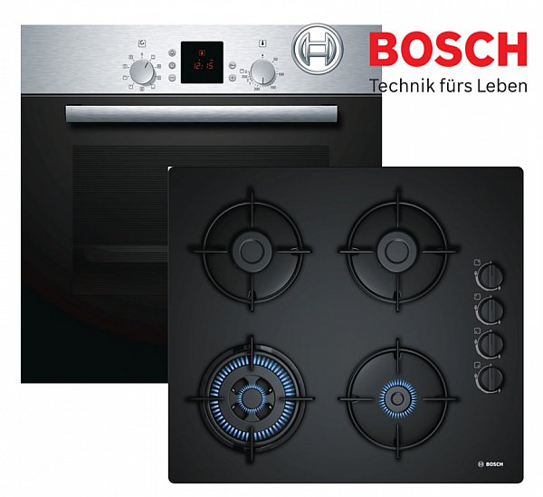 gas herdset autark gasherd bosch einbau backofen gas glaskeramik kochfeld neu ebay. Black Bedroom Furniture Sets. Home Design Ideas