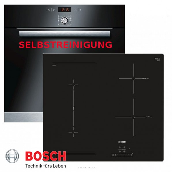 induktion herd set autark bosch backofen selbstreinigung glaskeramik kochfeld ebay. Black Bedroom Furniture Sets. Home Design Ideas