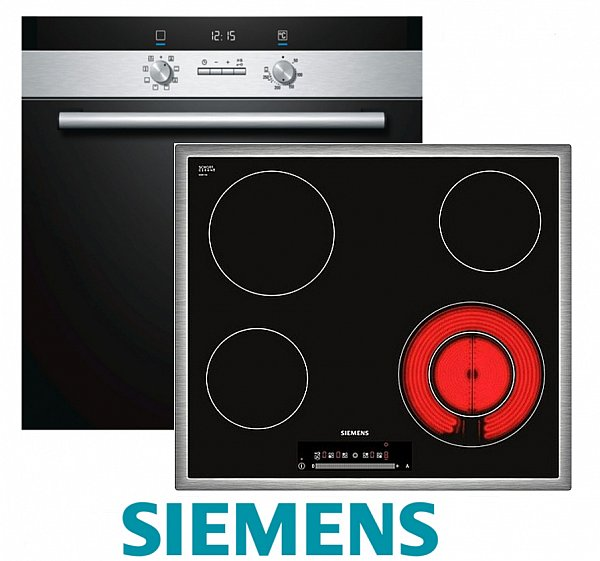siemens herdset autark backofen umluft glaskeramik kochfeld 60cm touch kontrol ebay. Black Bedroom Furniture Sets. Home Design Ideas