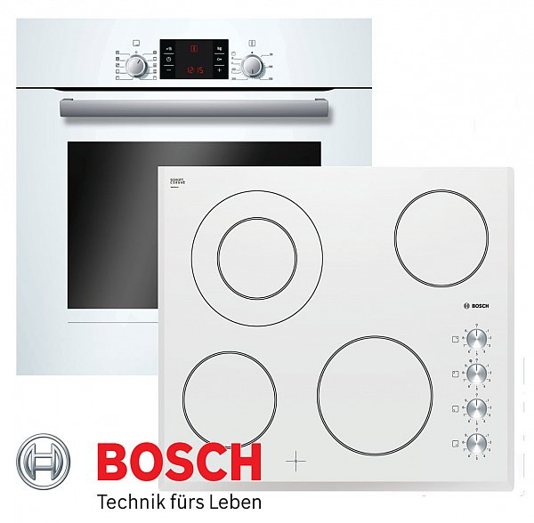 bosch herdset autark wei backofen umluft glaskeramik kochfeld 60cm neu ebay. Black Bedroom Furniture Sets. Home Design Ideas