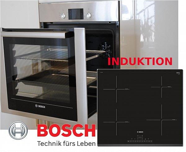 herdset induktion autark bosch backwagen backofen induktion glaskeramik kochfeld ebay. Black Bedroom Furniture Sets. Home Design Ideas