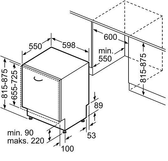 bosch smv24 einbau sp lmaschine 60cm geschirrsp ler. Black Bedroom Furniture Sets. Home Design Ideas