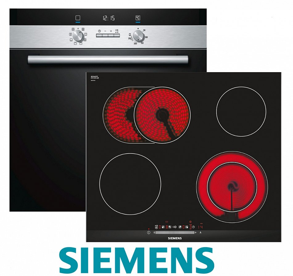 siemens herd einbau autark backofen umluft glaskeramik kochfeld 60 herdset ebay. Black Bedroom Furniture Sets. Home Design Ideas