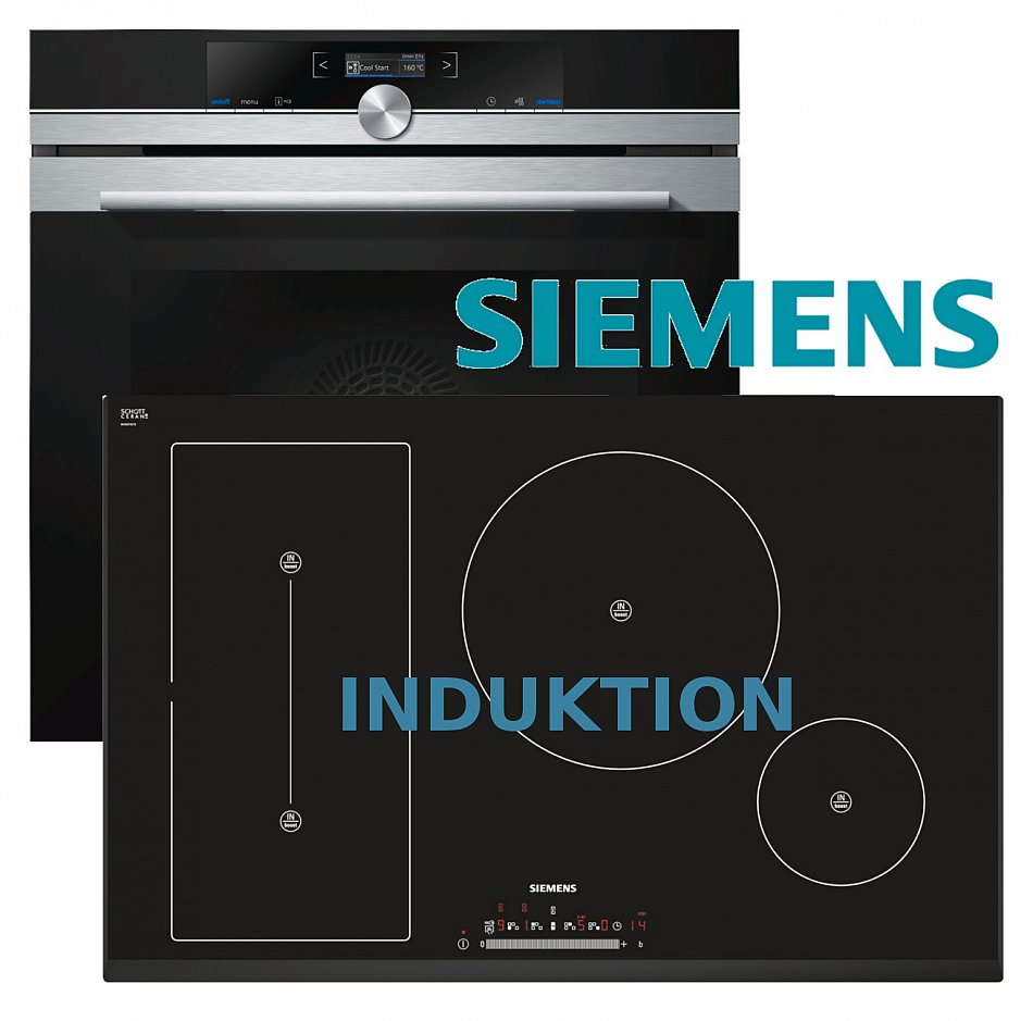 siemens herdset autark herd backofen autom induktion kochfeld 80cm touchslider ebay. Black Bedroom Furniture Sets. Home Design Ideas