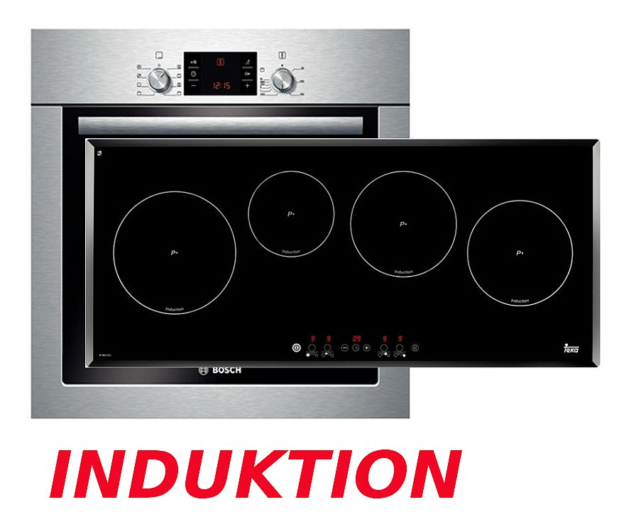 Bosch herdset induktion backofen induktion glaskeramik for Backofen mit induktion