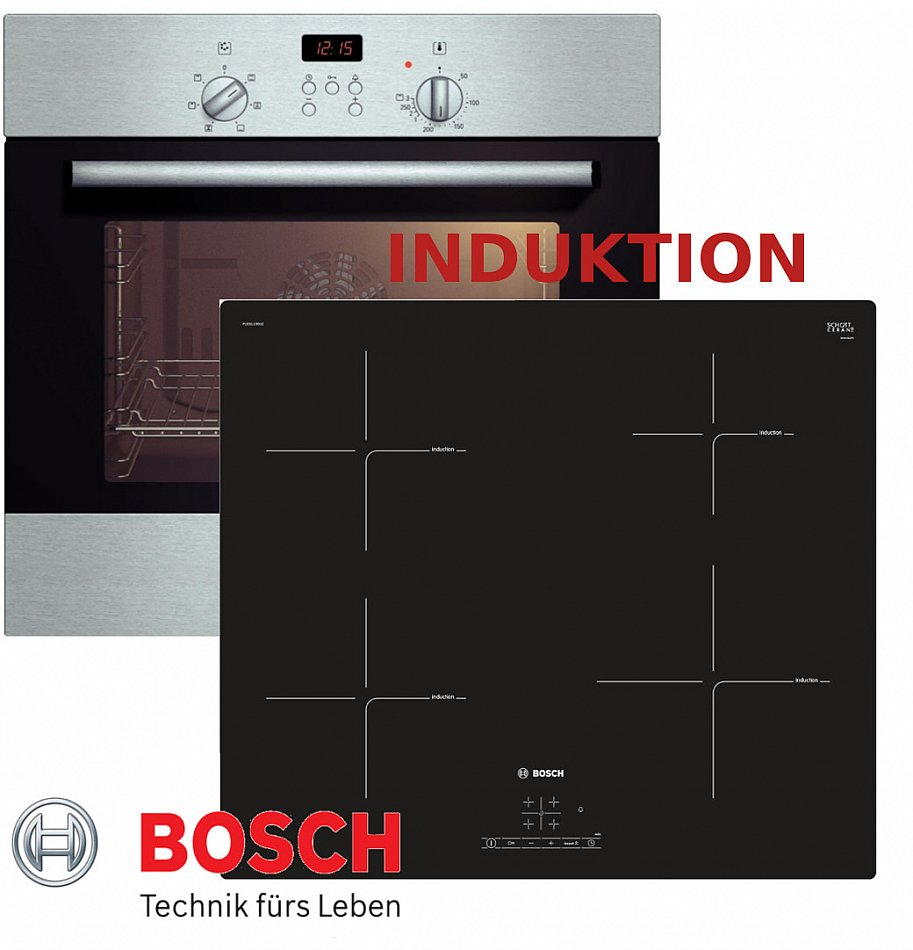 induktion herd set autark bosch einbau backofen induktion kochfeld 60 cm neu ebay. Black Bedroom Furniture Sets. Home Design Ideas