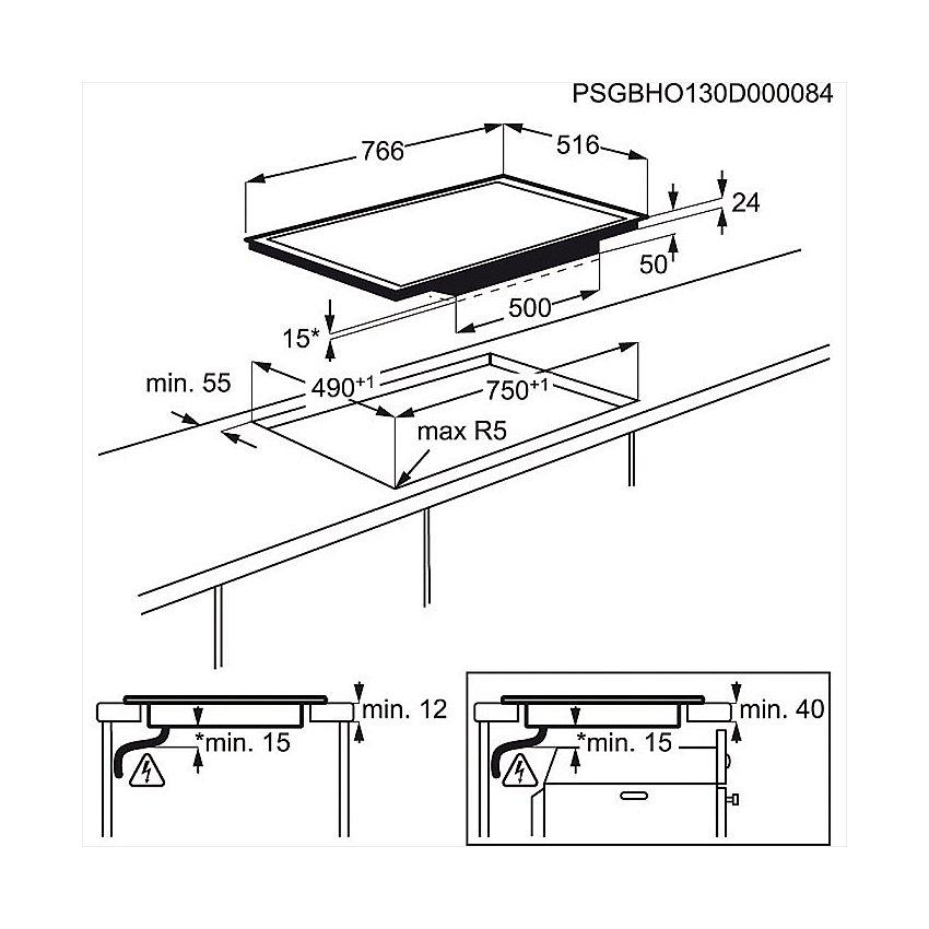 induktion herdset aeg autark backofen induktion glaskeramik kochfeld 76 6 cm ebay. Black Bedroom Furniture Sets. Home Design Ideas