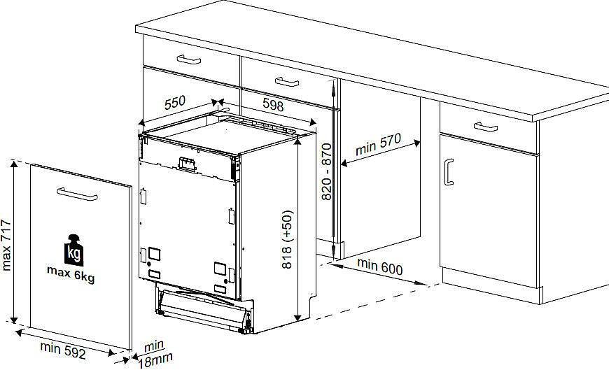 sp lmaschine 60cm beko din 25411 geschirrsp ler einbau geschirrsp lmaschine neu ebay. Black Bedroom Furniture Sets. Home Design Ideas