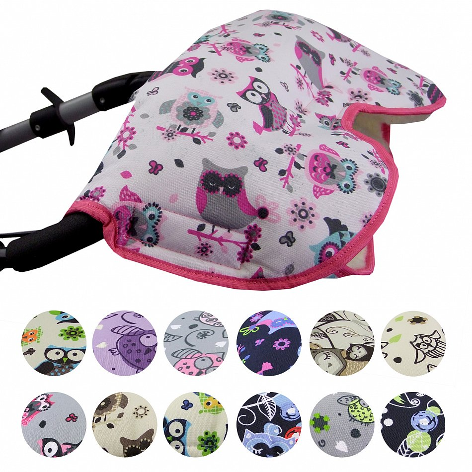 MUFF mit Lammwolle Handwärmer für Kinderwagen Buggy Kinderwagenmuff WOLLE