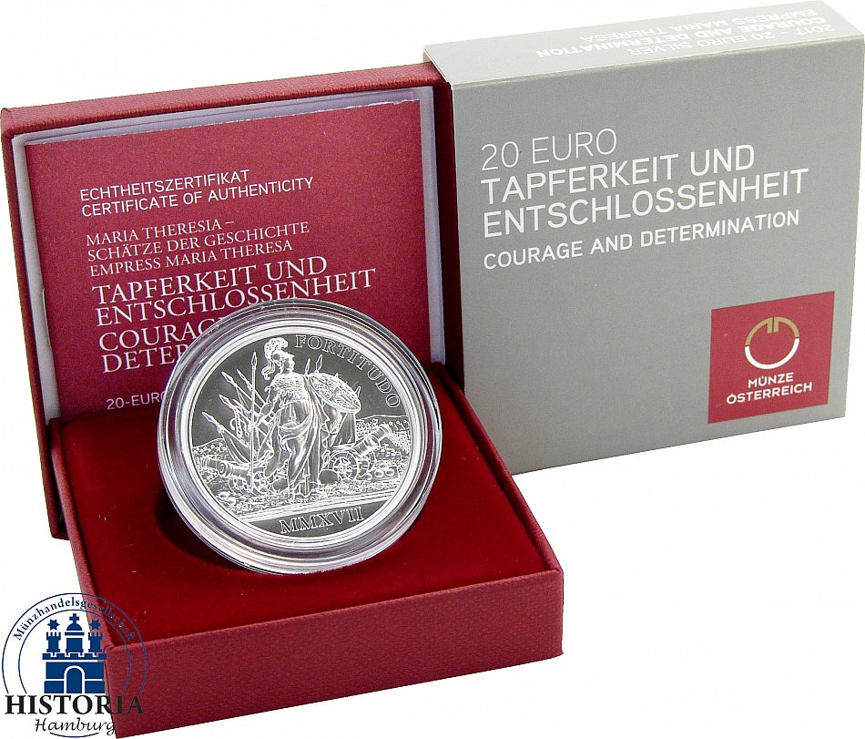Austria 20 Euro 2017 - SILVER COIN COURAGE AND DETERMINATION - Maria ...