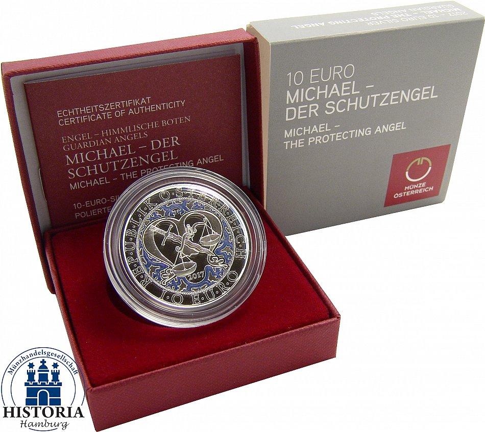 österreich 10 Euro Silber 2017 Pp Engel Himmlische Boten