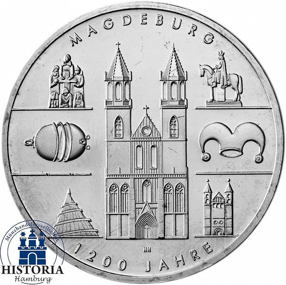 Deutschland 10 Euro Silber 2005 Bfr 1200 Jahre Magdeburg Münze In