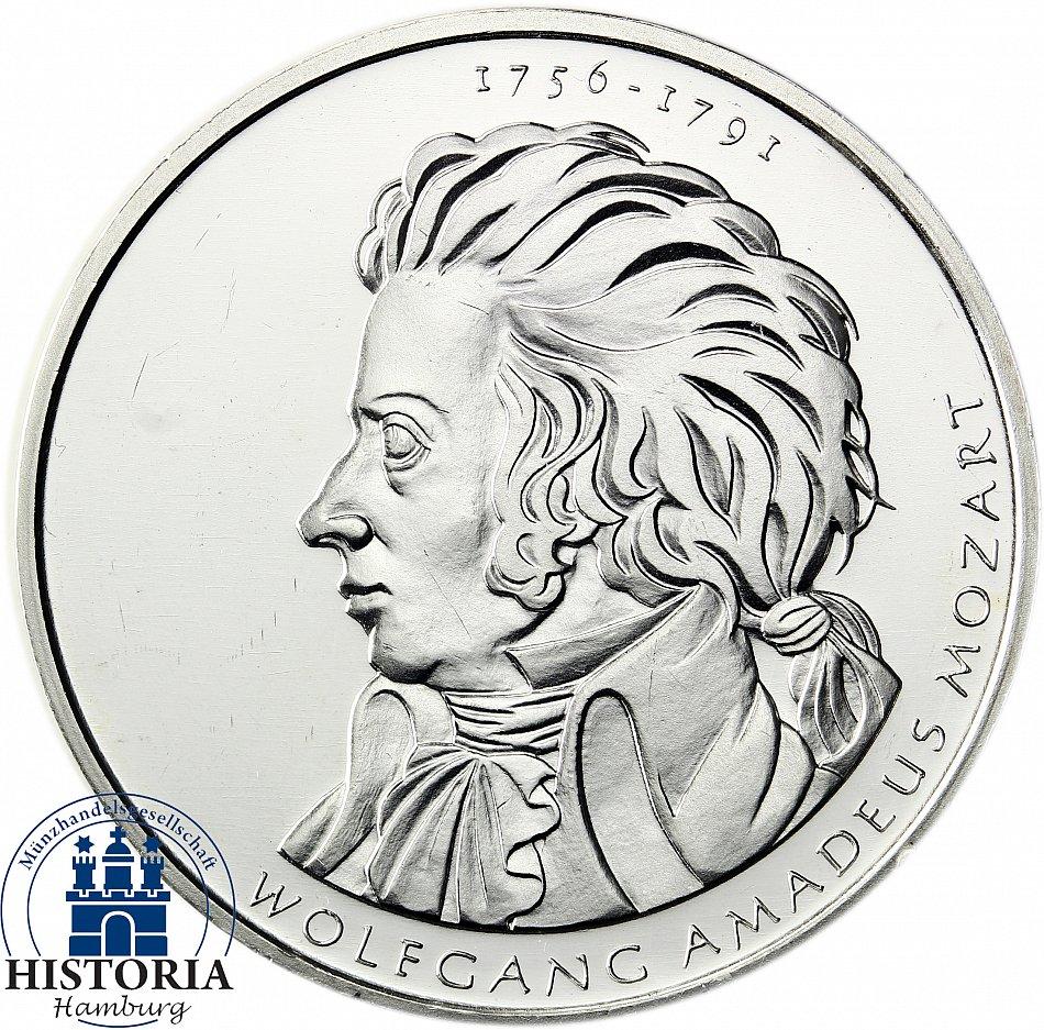 Deutschland 10 Euro Silber 2006 Bfr Wolfgang Amadeus Mozart In