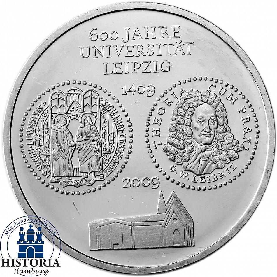 Deutschland 10 Euro 2009 Universität Leipzig Bankfrische Münze In