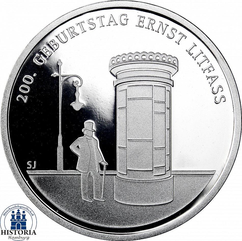 Details Zu Deutschland 20 Euro Silber 2016 Spiegelglanz Münze Ernst Litfass Im Folder