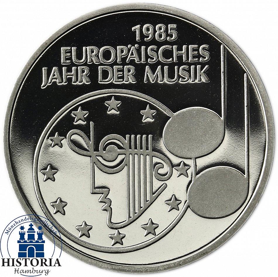 Deutschland 5 Dm 1985 Europäisches Jahr Der Musik Spiegelglanz In