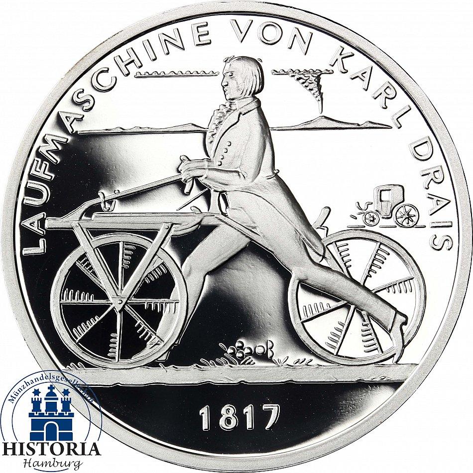Deutschland 20 Euro Silber 2017 Spiegelglanz Münze Laufmaschine Von