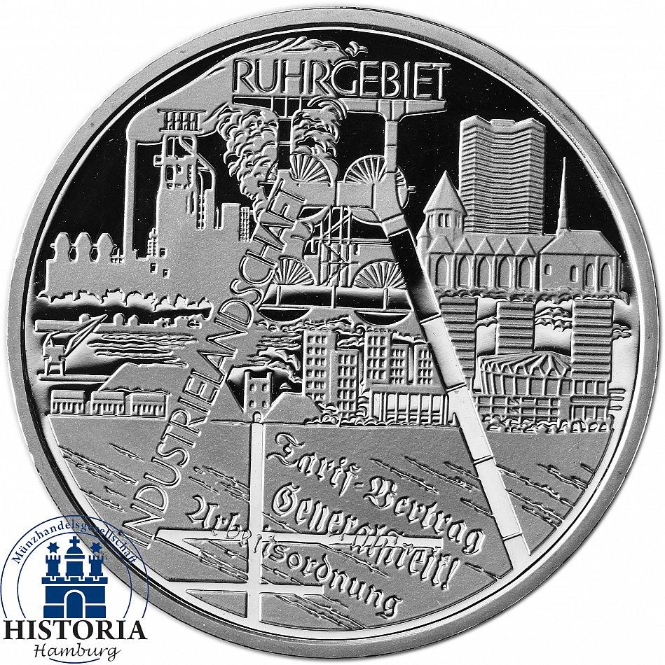 Deutschland 10 Euro Industrielandschaft Ruhrgebiet 2003 Spiegelglanz