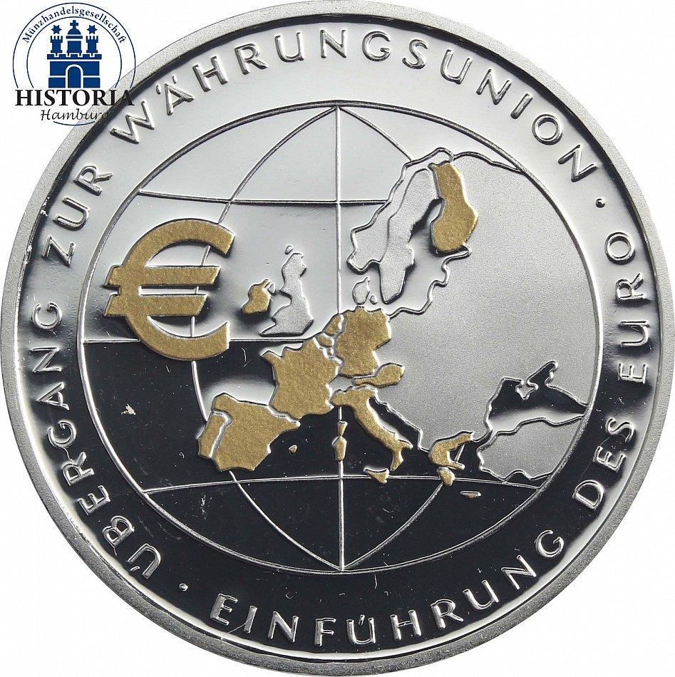 361 Deutschland 10 Euro Münze 2002 Pp übergang Zur Währungsunion