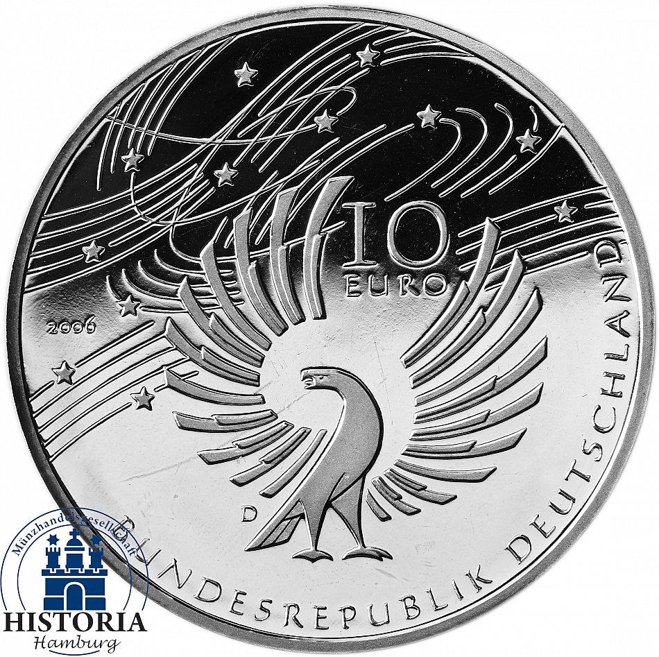 Deutschland 10 Euro Wolfgang Amadeus Mozart 2006 Silber Münze