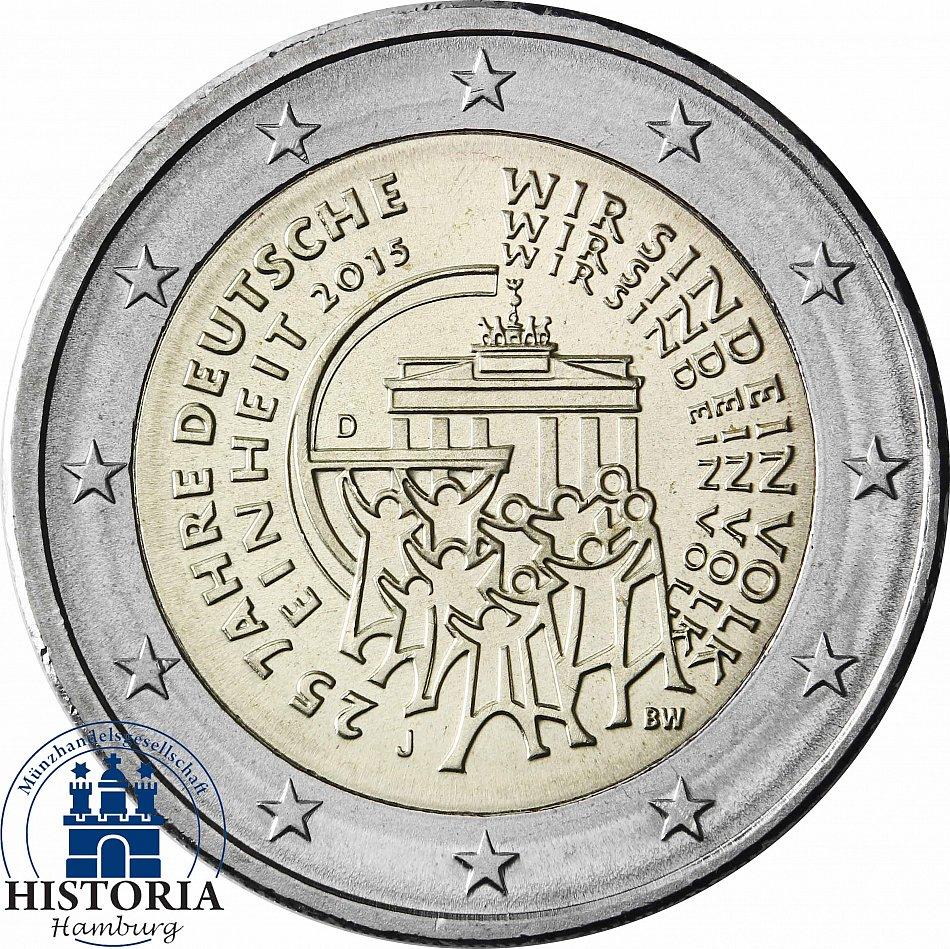 Deutschland 25 X 2 Euro 2015 Bfr 25 Jahre Deutsche Einheit Mzz D