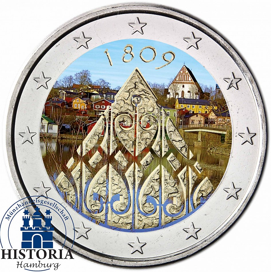 finland 2 euro coin 200 anniversary of autonomy 2009. Black Bedroom Furniture Sets. Home Design Ideas