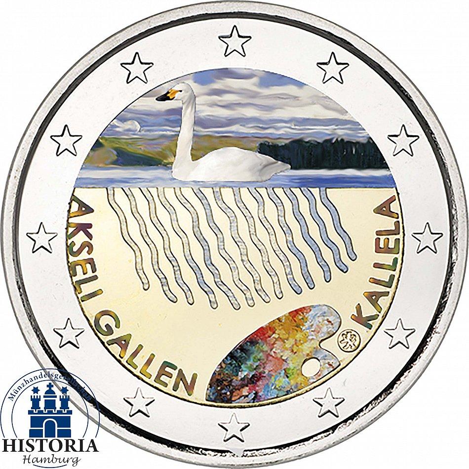 Finnland 2 Euro Münze Akseli Gallen Kallela 2015 Bankfrisch