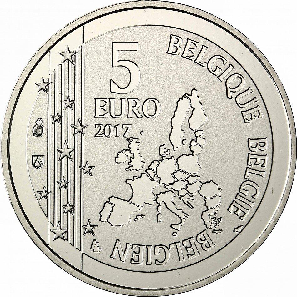 Belgien 5 Euro 2017 Gaston La Gaffe Stempelglanz In Coincard Ebay