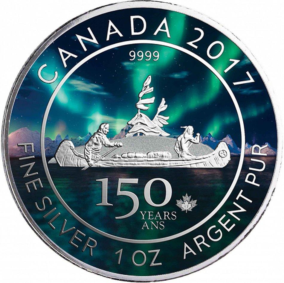 Kanada Voyageur 1 Oz Silber 150 Jahre Canada