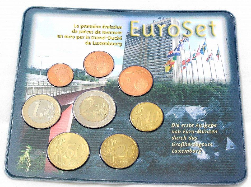 Luxemburg Kms 2002 Euromünzensatz 1 Cent 2 Euro Im Blister Ebay