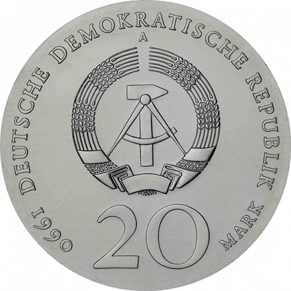Ddr 20 mark silber 1990 stempelglanz andreas schl ter gedenkm nze in m nzkapsel ebay - Schluter architekt ...