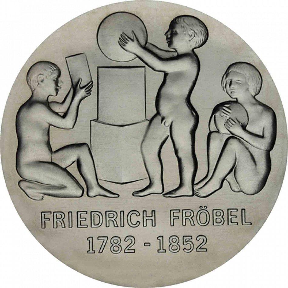 German Democratic Republic 5 Mark GDR 1982 BU Fröbel in Capsule Friedrich W A