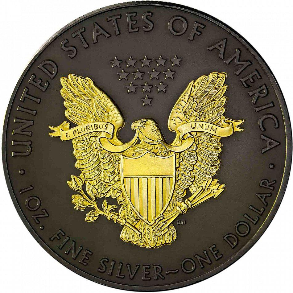 Usa 1 Dollar 2018 Silver Eagle Black Ruthenium Edition 24