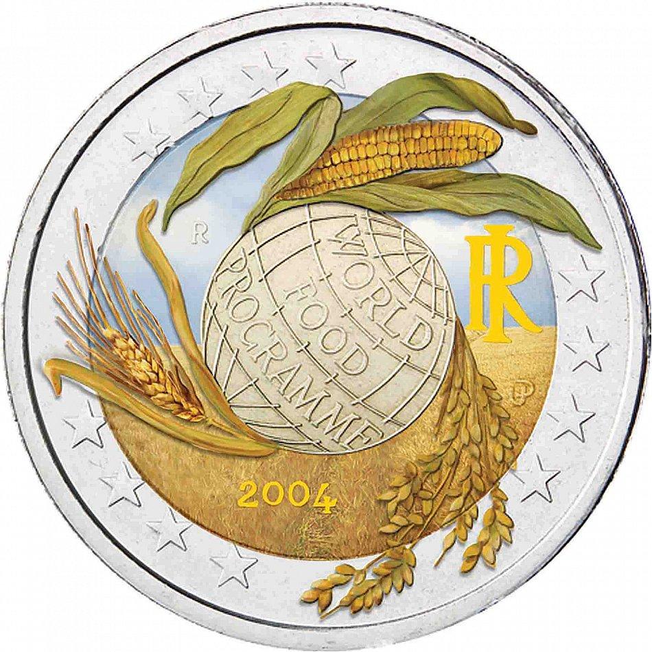 Italien 2 Euro 2004 Welternahrung World Food Programme Pragefrisch In Farbe Ebay