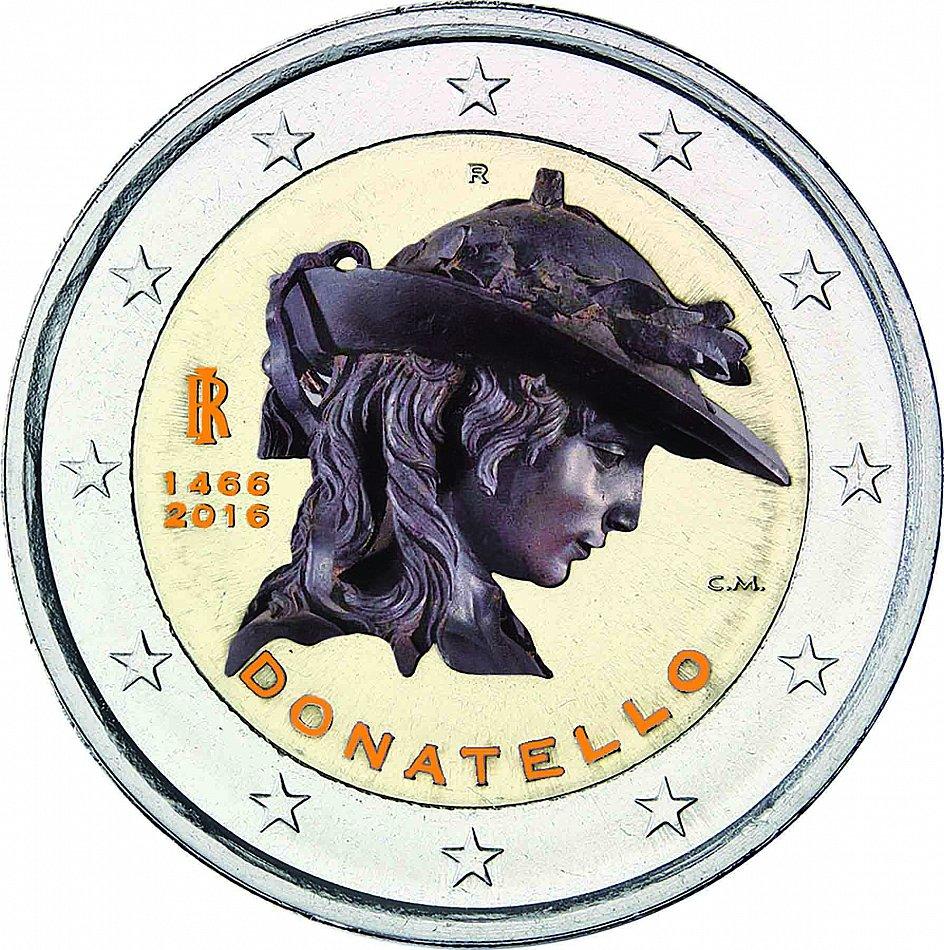 Italien 2 Euro 2016 Donatello Gedenkmünze Prägefrisch In Farbe Ebay
