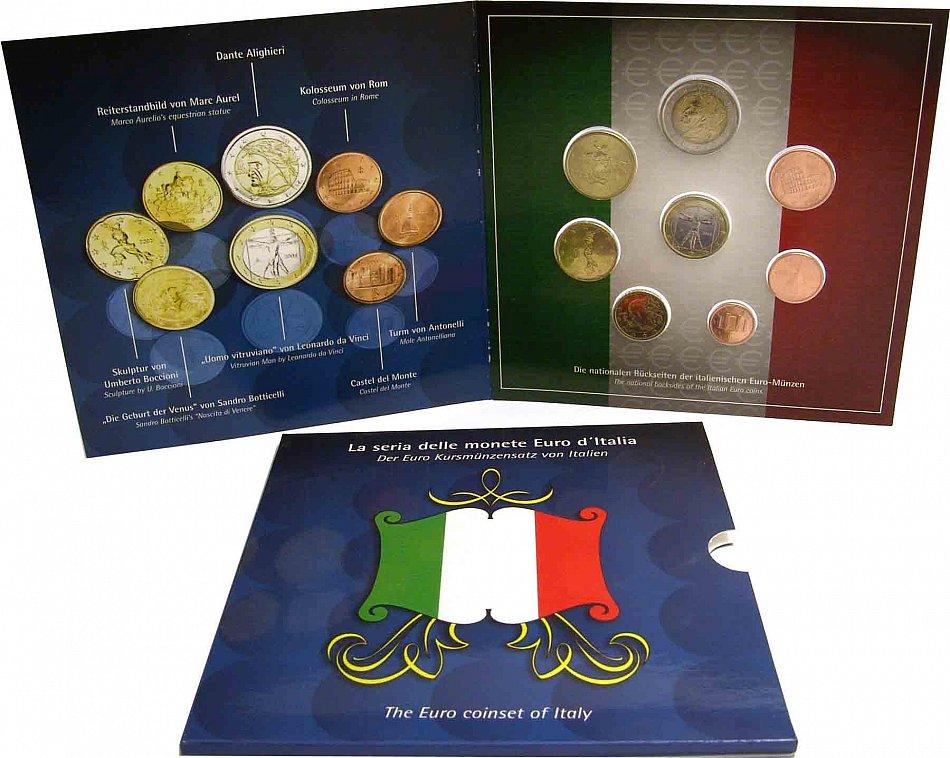 Italien Euro 2002 Kms 1 Cent Bis 2 Euro Stempelglanz Sondersatz Im