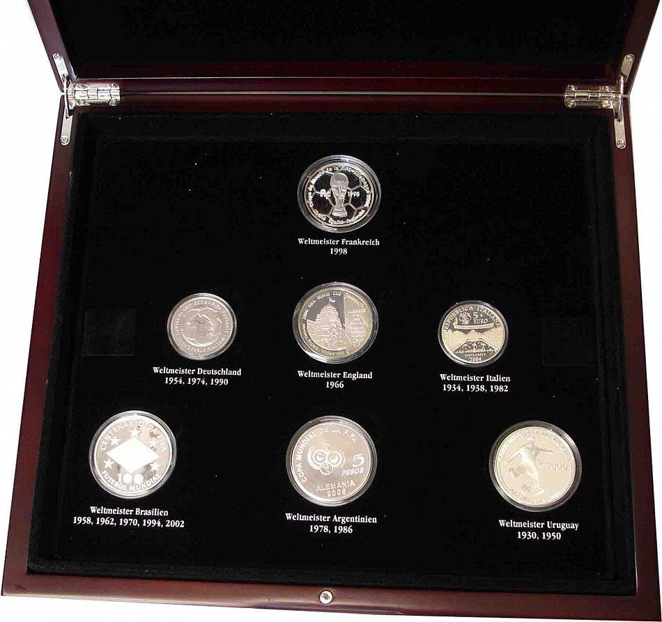 7 Silber Münzen Set Der 7 Weltmeister Zur Fifa Wm 2006 In
