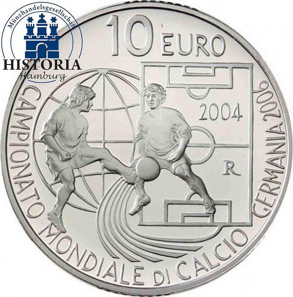 Euro 10 2004 San Fifa 5 Wm Und Silber Euro Marino Wm