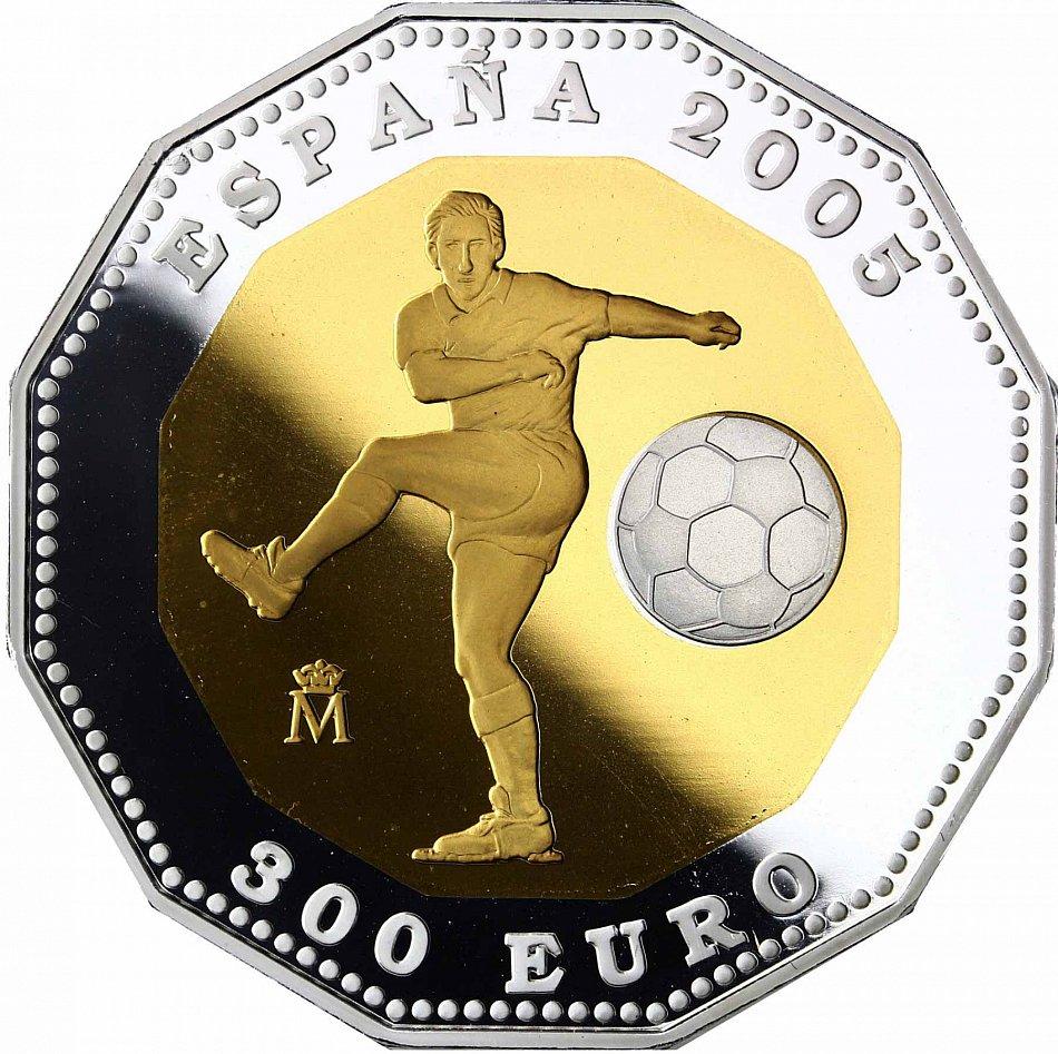 Details Zu Spanien 300 Euro 2006 Pp Fussball Wm 2006 Deutschland Polierte Platte Goldmunze