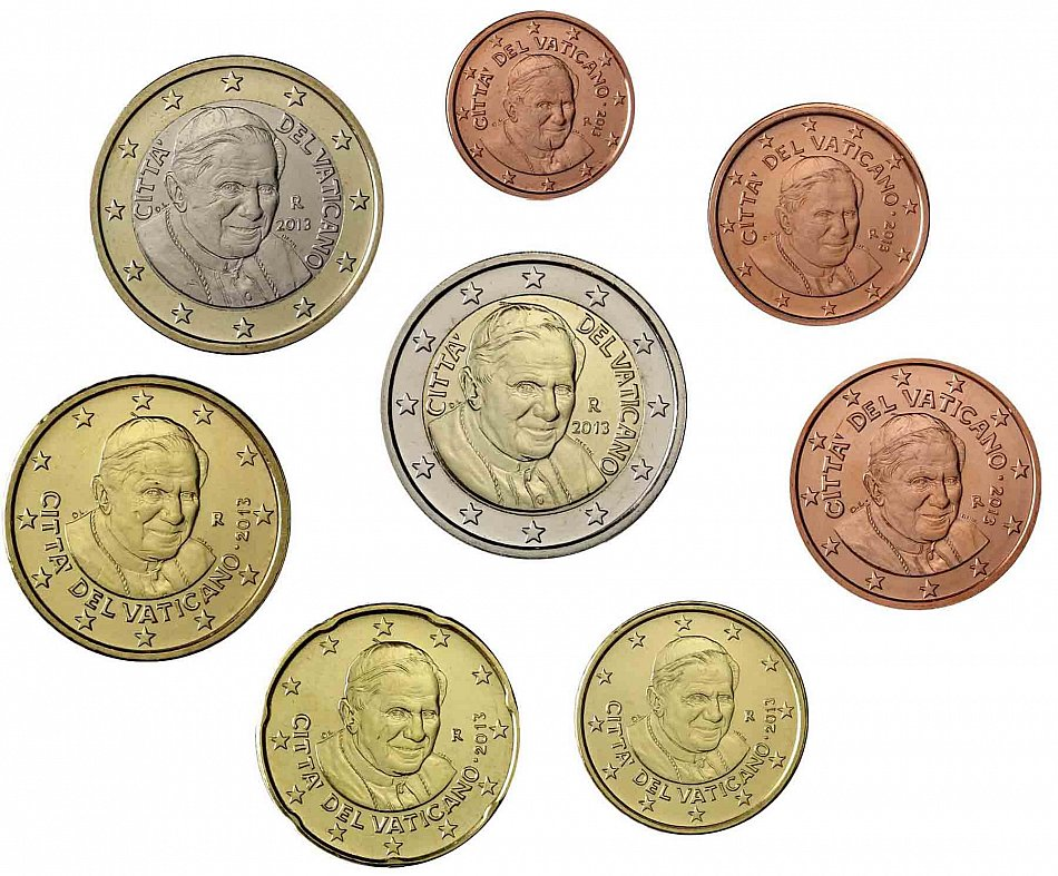 Vatikan Papst Benedikt Xvi 2 Euro MÜnze Selten
