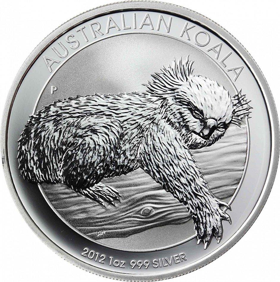 Australie 1 Dollars 2012 Koala Ours Argent Installation