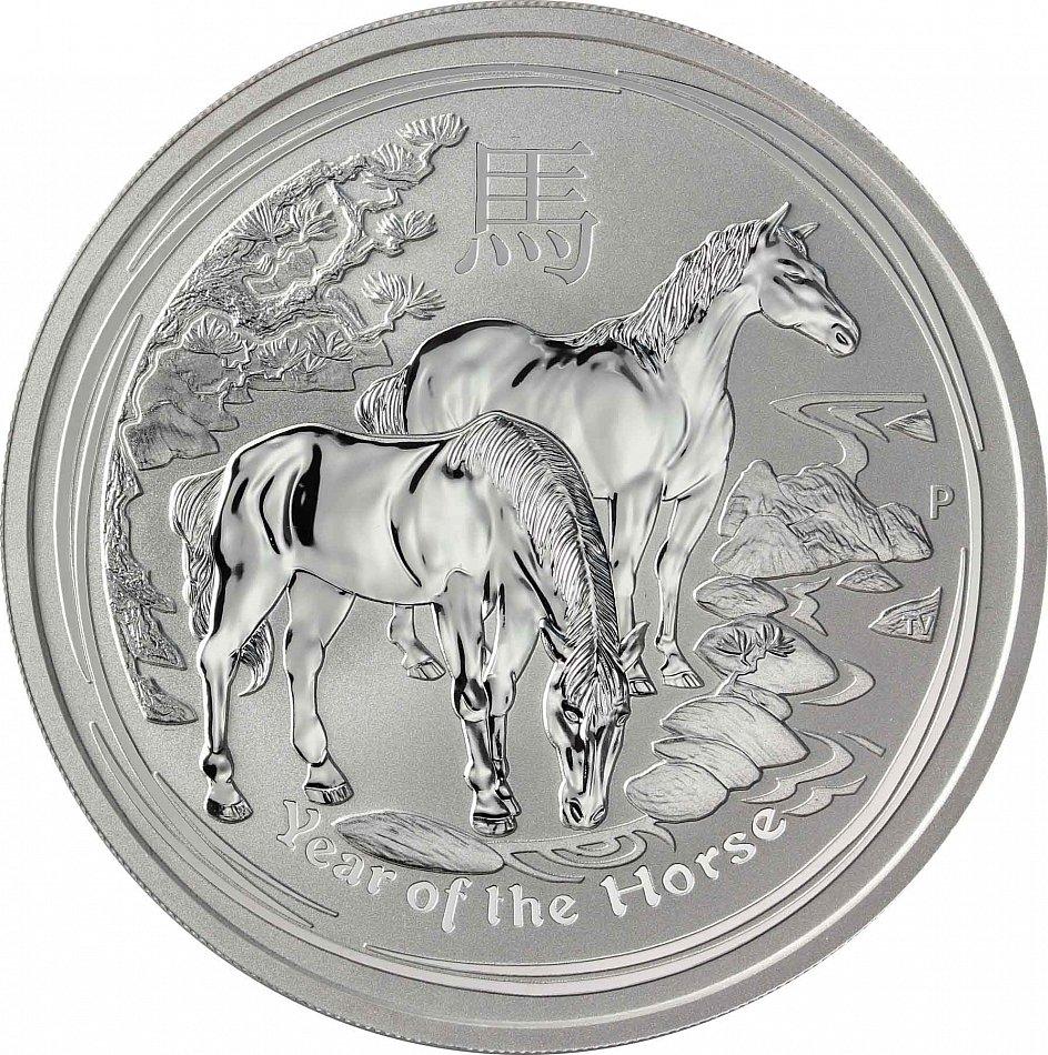 Australien 8 Dollars 2014 Jahr Des Pferdes 5 Oz Lunar Ii