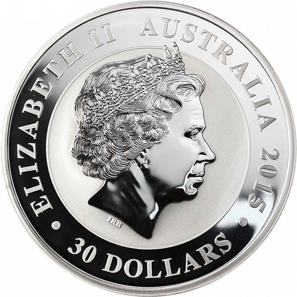 Australien 30 Dollar 2015 Kookaburra 1 Kg Silber