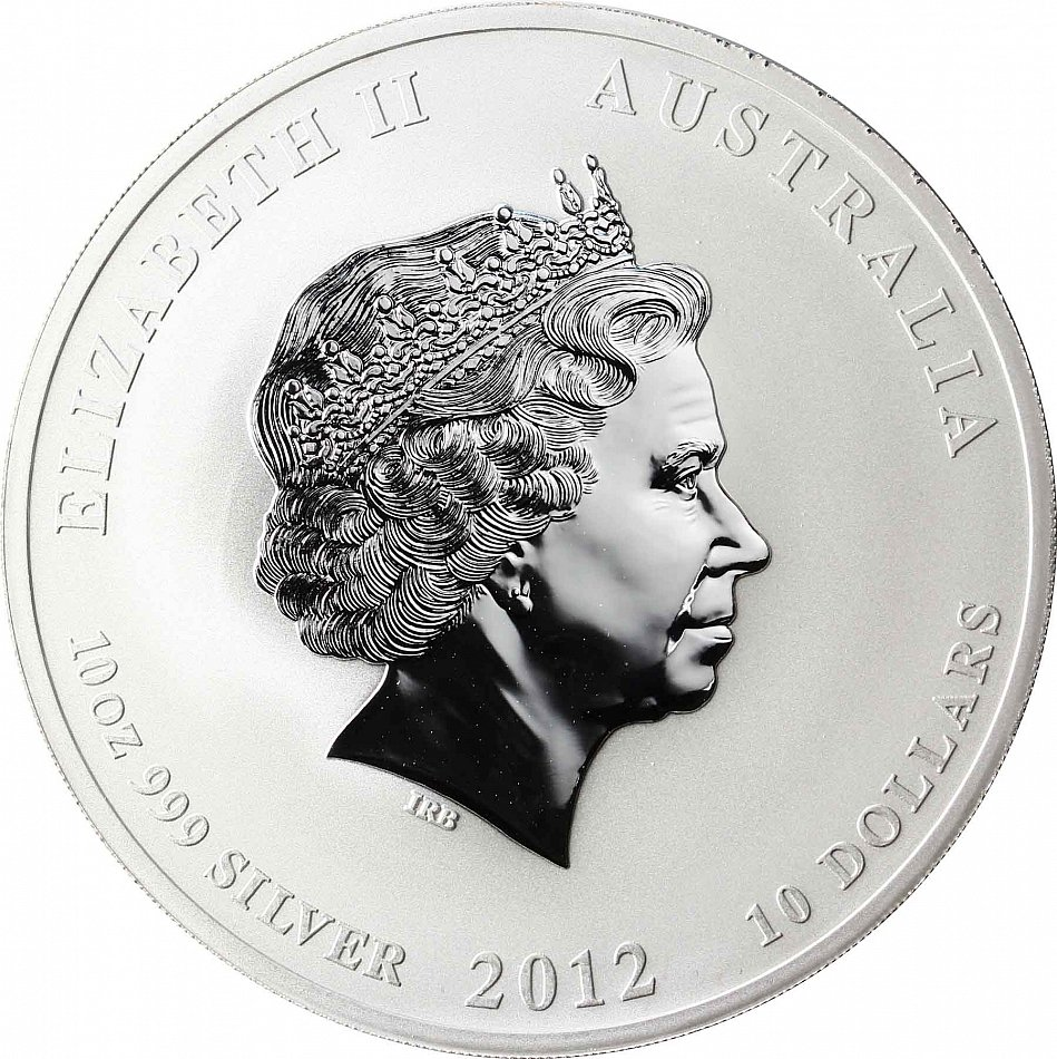 Australien 10 Dollars 2012 Jahr Des Drachen 10 Oz Silber
